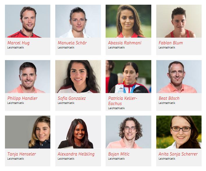 Entdecken Sie die selektionierten Schweizer Athletinnen und Athleten: